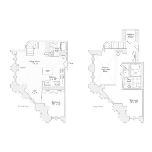 Penthouse – Two Bedroom, Two Bath (C3.1 , C3.2)