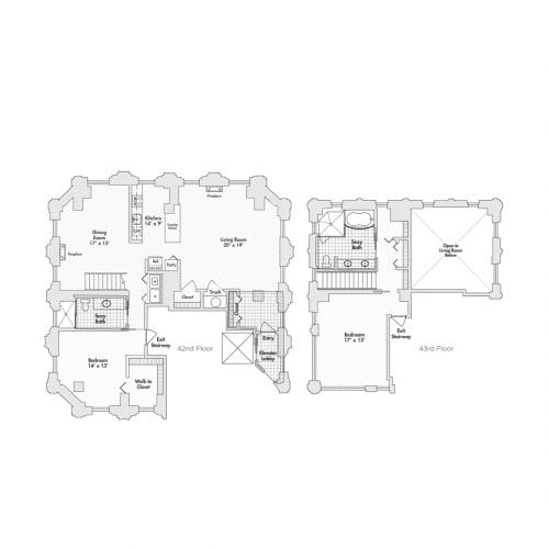 Penthouse – Two Bedroom, Two Bath (C8)